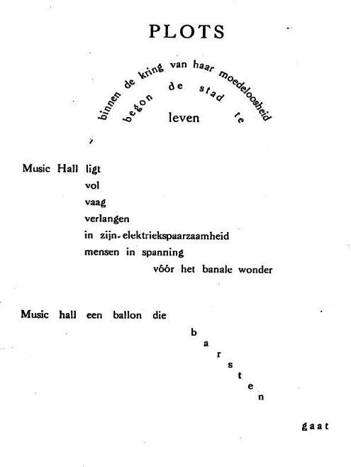 Vl Paul Van Ostaijen I Marc Groet S Morgens De Dingen